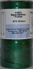 Green Nylon Twisted Twine #15