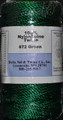 Green Twisted Nylon Twine; Size 72; 270 ft/lb; 1 pound spool