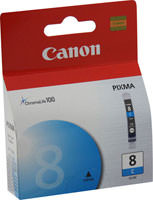 Canon 0621B002 (CLI-8C) Cyan Ink Cartridge Original Genuine OEM