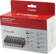 Canon 0620B015 (CLI-8) 8 Color Inkjet Cartridge Multipack Original Genuine OEM