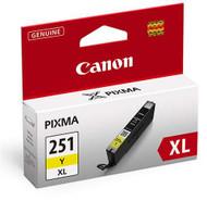 Canon 6451B001 (CLI-251XL) High Yield Yellow Ink Cartridge Original Genuine OEM