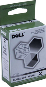 Dell 7Y743 Black Ink Cartridge Original Genuine OEM