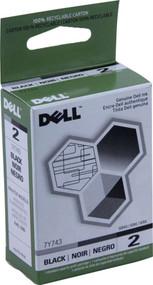 Dell 7Y743 Black Ink Cartridge Original Genuine OEM