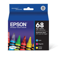 Epson T068520 High-Capacity Color Ink Cartridge Multi Pack Original Genuine OEM