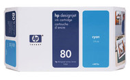 HP C4846A (HP 80XL) Cyan Ink Cartridge Original Genuine OEM