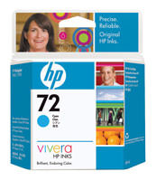 HP C9398A (HP 72) Cyan Ink Cartridge Original Genuine OEM