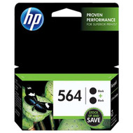 HP C2P51FN (HP 564) Black Ink Cartridge 2-pack Original Genuine OEM