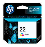HP C9352AN (HP 22) Tri-Color Ink Cartridge Original Genuine OEM