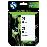 HP C9508FN (HP 21) Black Ink Cartridge 2-pack Original Genuine OEM