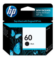 HP CC640WN (HP 60) Black Ink Cartridge Original Genuine OEM