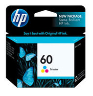 HP CC643WN (HP 60) Tri-Color Ink Cartridge Original Genuine OEM