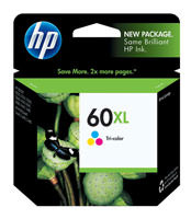 HP CC644WN (HP 60XL) Tri-Color Ink Cartridge Original Genuine OEM