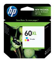 HP CC644WN (HP 60XL) Tri-Color Ink Cartridge Original Genuine OEM