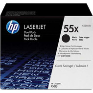 HP CE255XD (HP 55X) High Yield Black Toner Cartridge 2-pack Original Genuine OEM