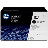 HP Q2610AD (HP 10A) Black Toner Cartridge 2-pack Original Genuine OEM