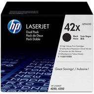 HP Q5942XD (HP 42X) High Yield Black Toner Cartridge 2-pack Original Genuine OEM