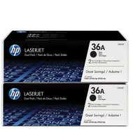 HP CB436AD (HP 36A) Black Toner Cartridge 2-pack Original Genuine OEM