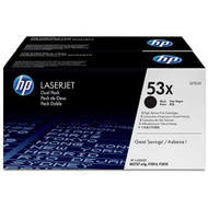 HP Q7553XD (HP 53X) High Yield Black Toner Cartridge 2-pack Original Genuine OEM