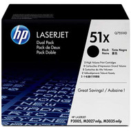 HP Q7551XD (HP 51X) High Yield Black Toner Cartridge 2-pack Original Genuine OEM