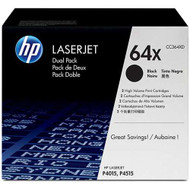HP CC364XD (HP 64X) High Yield Black Toner Cartridge 2-pack Original Genuine OEM