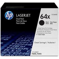 HP CC364XD (HP 64X) High Yield Black Toner Cartridge 2-pack Original Genuine OEM