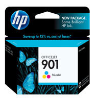 HP CC656AN (HP 901) Tri-Color Ink Cartridge Original Genuine OEM