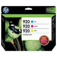 HP B3B30FN (HP 920) Ink Cartridge Combo Pack (C/M/Y) Original Genuine OEM