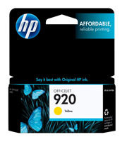 HP CH636AN (HP 920) Yellow Ink Cartridge Original Genuine OEM