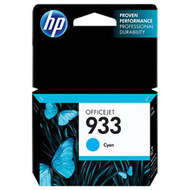 HP CN058AN (HP 933) Cyan Ink Cartridge Original Genuine OEM