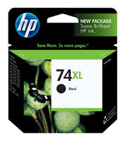 HP CB336WN (HP 74XL) High Yield Black Ink Cartridge Original Genuine OEM