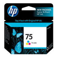 HP CB337WN (HP 75) Tri-Color Ink Cartridge Original Genuine OEM