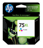 HP CB338WN (HP 75XL) High Yield Tri-Color Ink Cartridge Original Genuine OEM