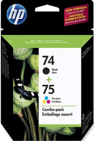 HP CC659FN (HP 74 & 75) Black & Tri-Color Inkjet Cartridge Multipack Original Genuine OEM