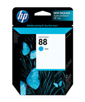 HP C9386AN (HP 88) Cyan Ink Cartridge Original Genuine OEM
