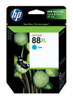 HP C9391AN (HP 88XL) Hi-Yield Cyan Ink Cartridge Original Genuine OEM
