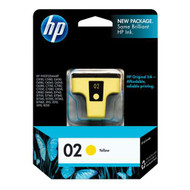 HP C8773WN (HP 02) Yellow Ink Cartridge Original Genuine OEM
