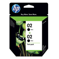 HP C9500FN (HP 02) Black Ink Cartridge 2-pack Original Genuine OEM