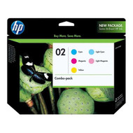HP CC604FN (HP 02) Ink Cartridge Combo Pack (C/M/Y/Lc/Lm) Original Genuine OEM