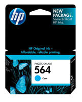 HP CB318WN#140 (HP 564) Cyan Ink Cartridge Original Genuine OEM