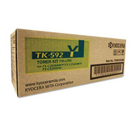 Kyocera Mita TK-592Y Yellow Toner Cartridge Original Genuine OEM