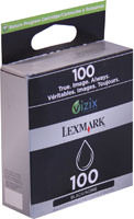 Lexmark 14N0820 (No. 100) Black Return Program Ink Cartridge Original Genuine OEM