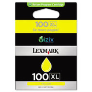 Lexmark 14N1071 (No. 100XL) High Yield Yellow Ink Cartridge Original Genuine OEM