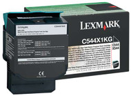 Lexmark C544X1KG Return Program Extra High Yield Black Toner Cartridge Original Genuine OEM