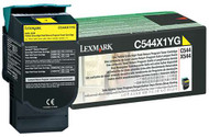 Lexmark C544X1YG Return Program Extra High Yield Yellow Toner Cartridge Original Genuine OEM