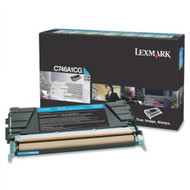 Lexmark C746A1CG Cyan Return Program Toner Cartridge Original Genuine OEM