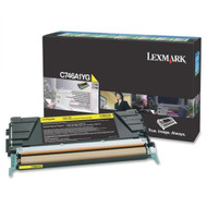 Lexmark C746A1YG Yellow Return Program Toner Cartridge Original Genuine OEM