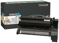 Lexmark 15G041C Cyan Return Program Toner Cartridge Original Genuine OEM
