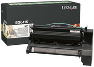 Lexmark 15G041K Black Return Program Toner Cartridge Original Genuine OEM