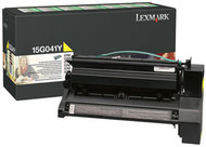 Lexmark 15G041Y Yellow Return Program Toner Cartridge Original Genuine OEM