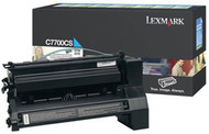 Lexmark C7700CS Cyan Return Program Toner Cartridge Original Genuine OEM